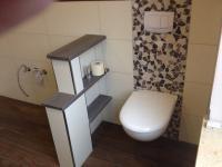 WC-Abmauerung mit Ablagen