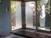Duschbereich mit Sicht-u Spritzschutz